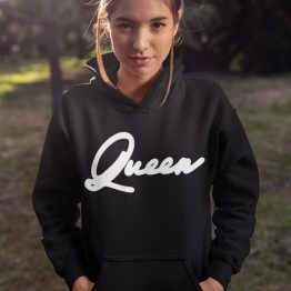 Queen Hoodie Premium Black
