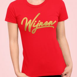 wijnen T-Shirt Red Gold