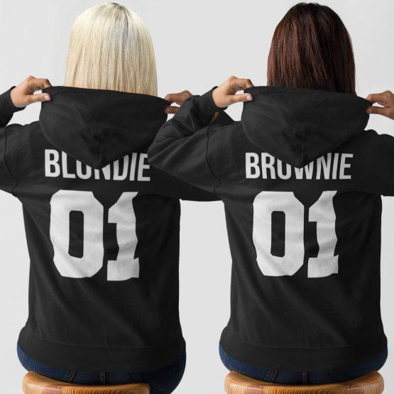Blondie 01 Brownie 01 Hoodies