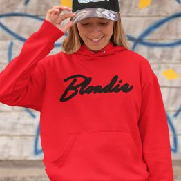 Blondie Hoodie Premium Red Black