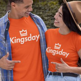 Koningsdag T-Shirt Kingsday Crown