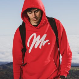Mr Mrs Hoodie Premium Red 2