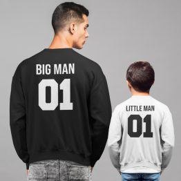 Vader Zoon Truien Big Man Little Man
