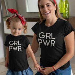 Moeder Dochter Shirts GRL PWR