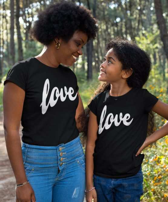 Moeder Dochter Shirt Love