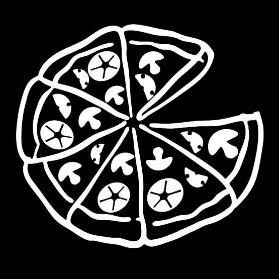 Vader Zoon Kleding Pizza Opdruk