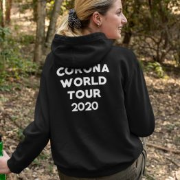 Corona Hoodie World Tour 2020 Back