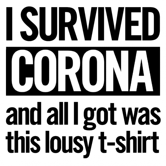 Corona Kleding I Survived