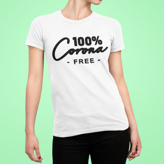 Corona T-Shirt 100% Corona Free 2