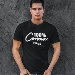 Corona T-Shirt 100% Corona Free