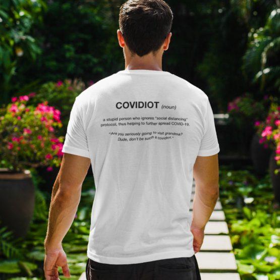Corona T-Shirt Covidiot Back 2