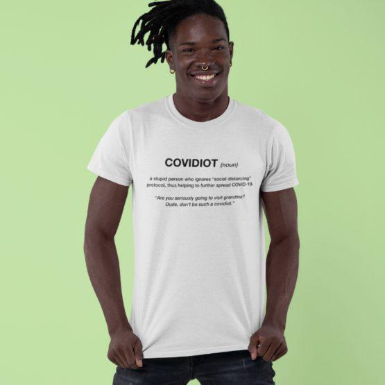 Corona T-Shirt Covidiot Noun 2