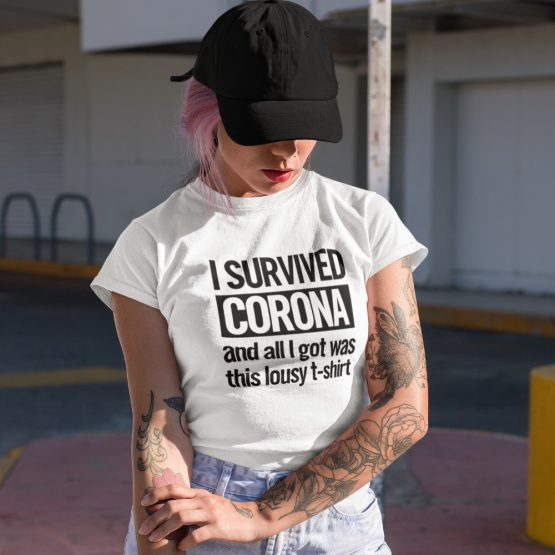 Corona T-Shirt I Survived