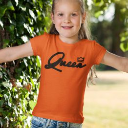 Koningsdag Shirt Kind Queen Black