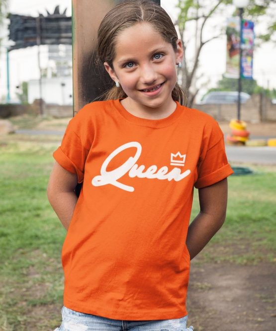 Koningsdag Shirt Kind Queen White