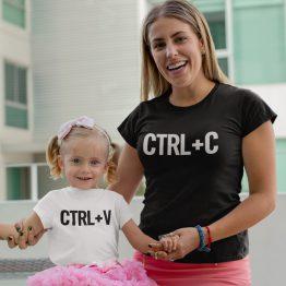 Moeder Dochter Shirts Ctrl C Ctrl V