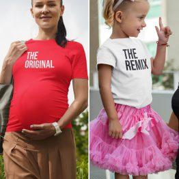 Moeder Dochter T-Shirts Original Remix Rood