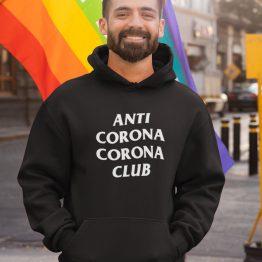 Corona Hoodie Anti Corona Club