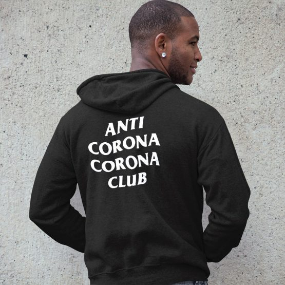 Corona Hoodie Anti Corona Club Back