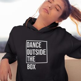 Festival Hoodie Dance Outside The Box Zwart
