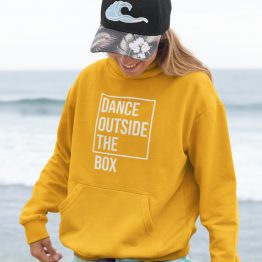 Festival Hoodie Dance Outside the Box Geel