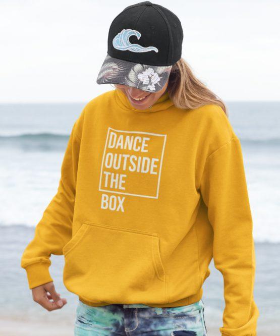 Festival Hoodie Dance Outside the Box Geel