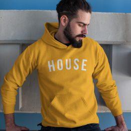 Festival Hoodie House geel