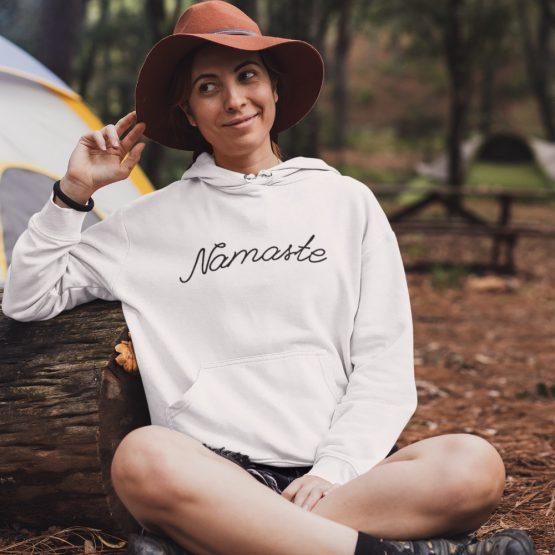 Festival Hoodie Namaste wit