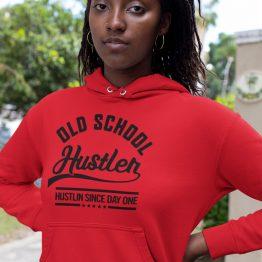 Festival Hoodie Old School Hustler Rood
