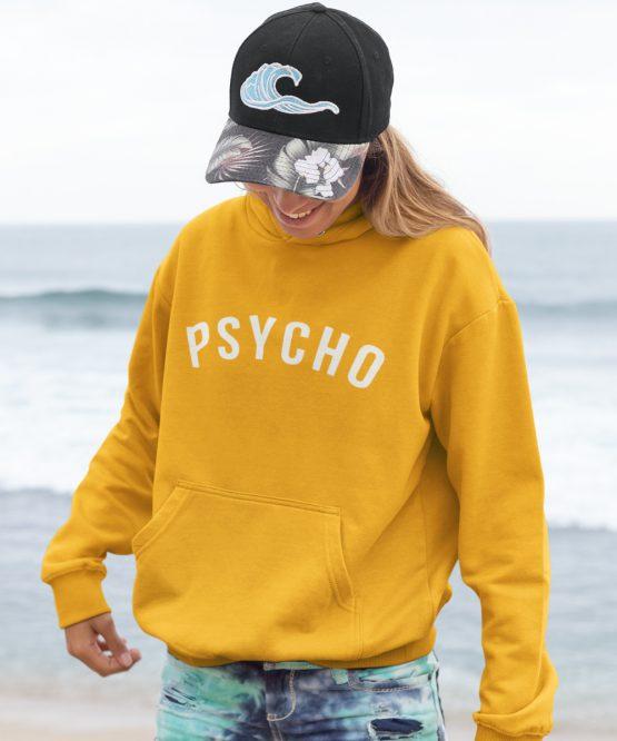 Festival Hoodie Psycho Geel