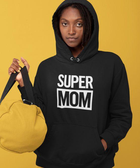Moederdag Hoodie Super Mom 1