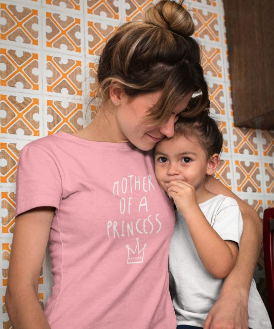 Moederdag T-Shirt Mother Of A Princess Roze