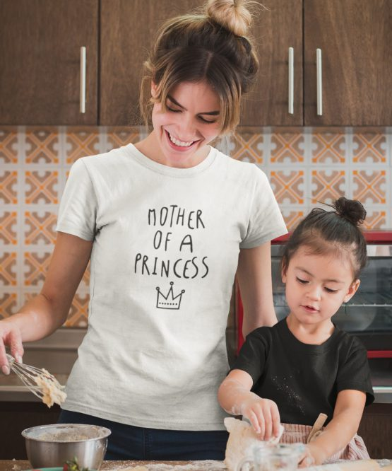 Moederdag T-Shirt Mother of a Princess