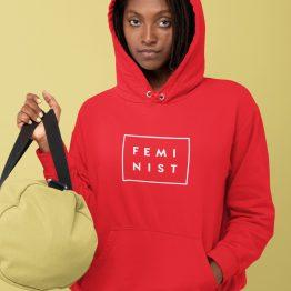 Feminisme Hoodie Feminist Rood