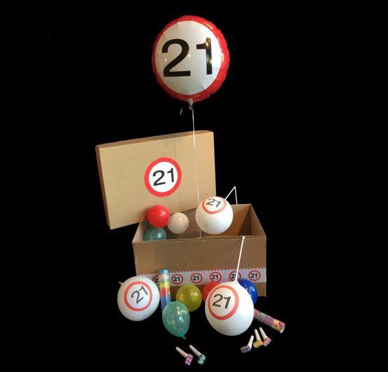 Helium ballon verjaardag 21