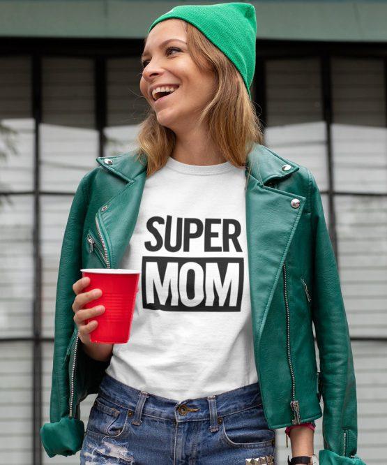 Moederdag T-Shirt Super Mom