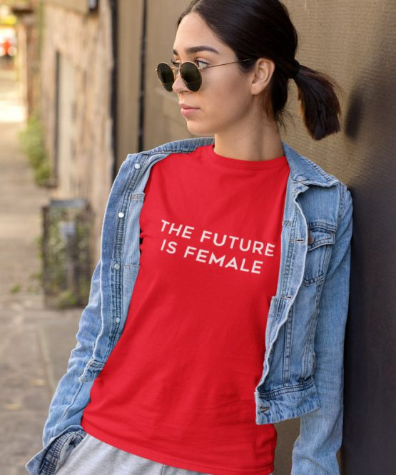 T-Shirt The Future Is Female Rood