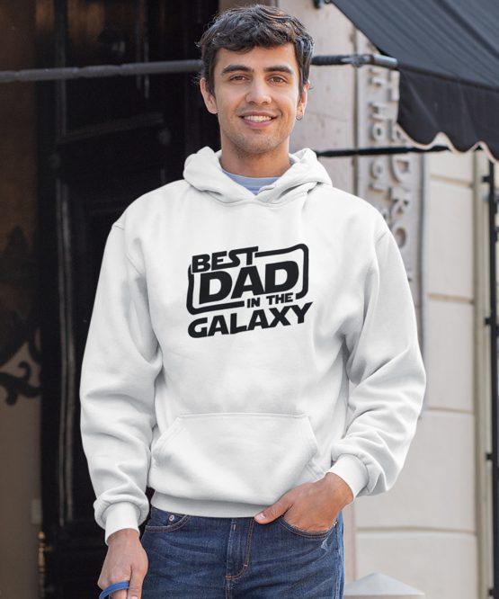 Vaderdag Hoodie Best Dad wit