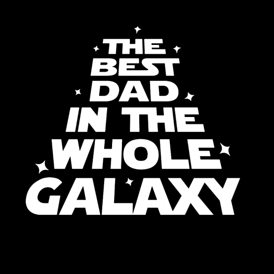 Vaderdag Opdruk Best Dad Galaxy