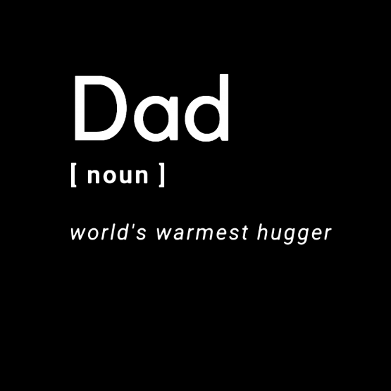 Vaderdag Opdruk Dad Noun