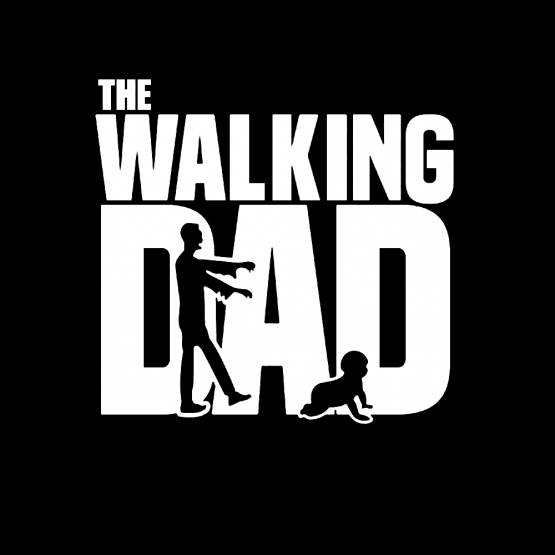 Vaderdag Opdruk The walking dad