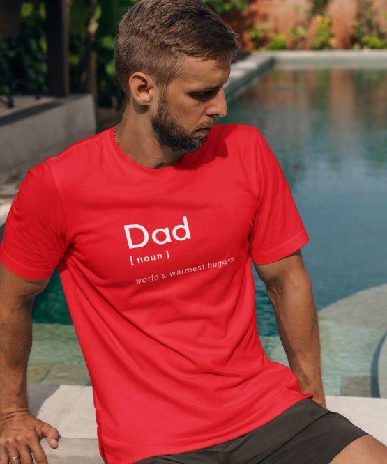 Vaderdag T-Shirt Dad Noun Rood
