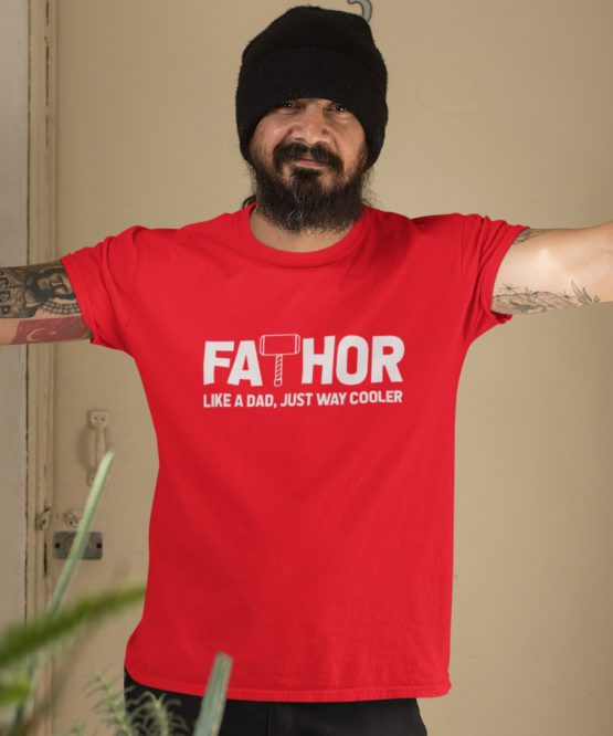 Vaderdag T-Shirt Fathor Rood