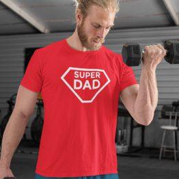 Vaderdag T-Shirt Super Dad Rood