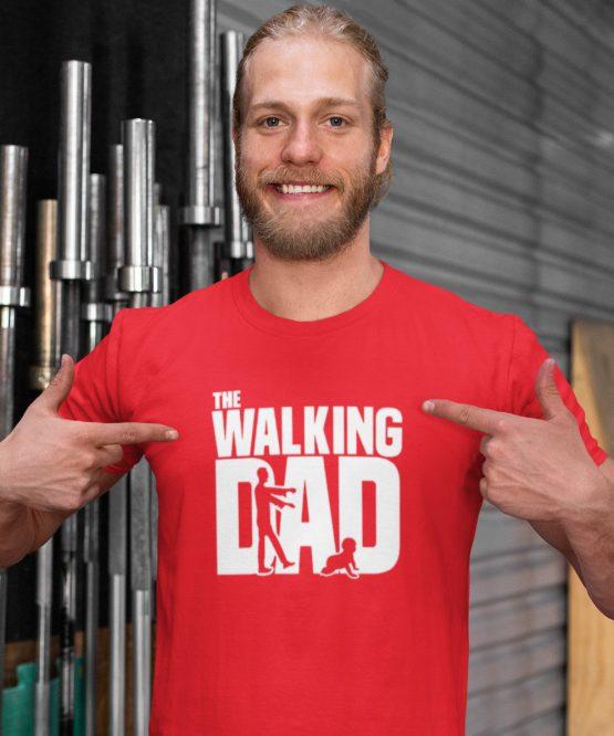 Vaderdag T-Shirt walking dad rood
