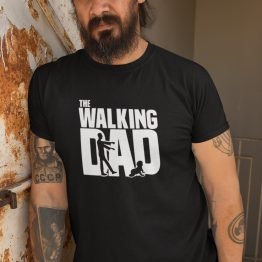 Vaderdag T-Shirt walking dad zwart