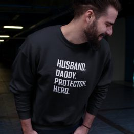 Vaderdag Trui Husband Daddy Protector Hero (1)