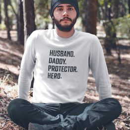 Vaderdag Trui Husband Daddy Protector Hero 2