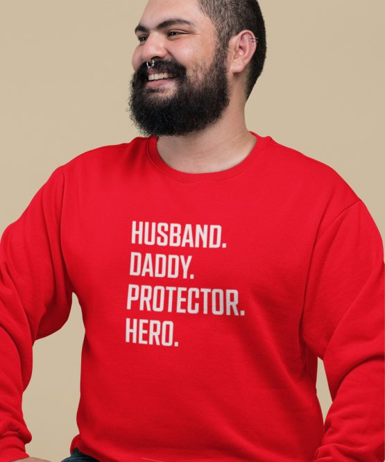 Vaderdag Trui Husband Daddy Protector Hero