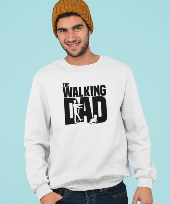 Vaderdag Trui The walking Dad wit